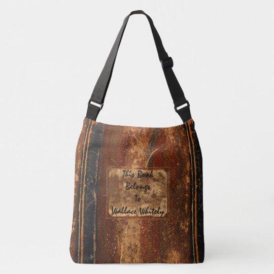 La cubierta de libro rústica empaqueta el libro de bolsa cruzada