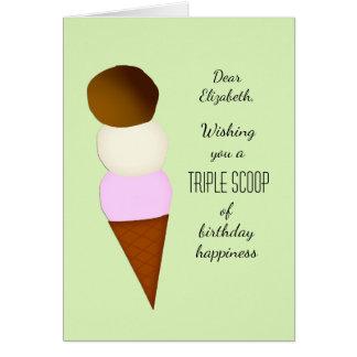 La cucharada triple añade un saludo conocido del tarjeta de felicitación