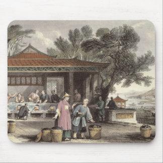 La cultura y la preparación del té, de 'China aden Alfombrilla De Ratón
