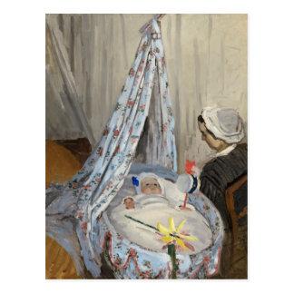 La cuna, Camilo con el hijo Jean del artista Tarjeta Postal