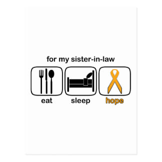 La cuñada come la esperanza del sueño - leucemia tarjetas postales