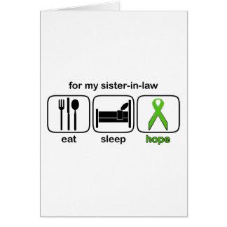 La cuñada come la esperanza del sueño - linfoma tarjeta de felicitación