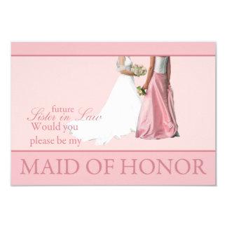 ¿La cuñada futura, sea por favor mi criada del Invitación 8,9 X 12,7 Cm