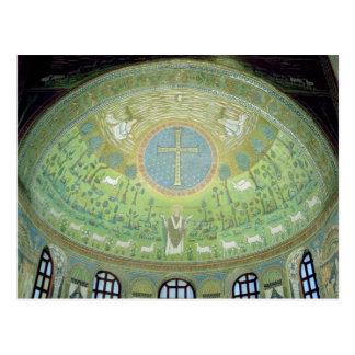 La cúpula con un mosaico que representa postal