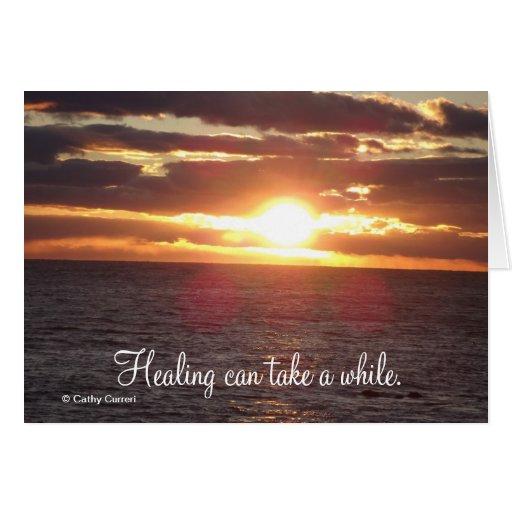 La cura puede tardar un rato.  Consiga la tarjeta