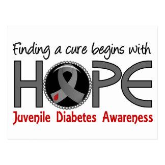 La curación comienza con diabetes juvenil de la es postales