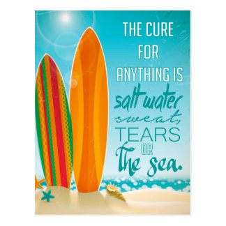 La curación para cualquier cosa es agua salada postal