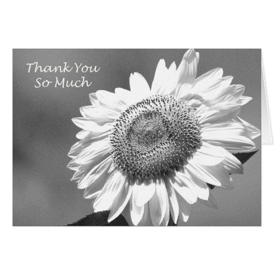 La dama de honor del girasol le agradece cardar tarjeta de felicitación
