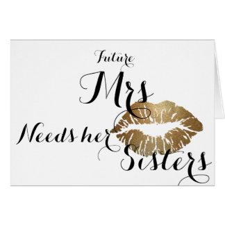 La dama de honor pide la tarjeta - beso del oro
