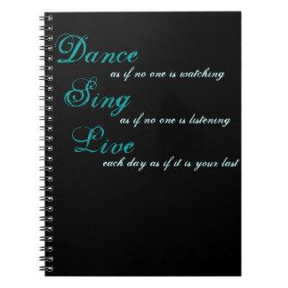 La danza canta vivo… libro de apuntes con espiral