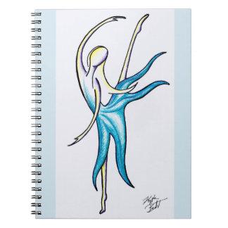 La danza como nadie está mirando el cuaderno