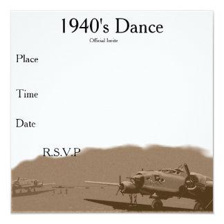 la danza de los años 40 invita invitación 13,3 cm x 13,3cm