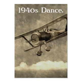 la danza de los años 40 invita invitación 12,7 x 17,8 cm
