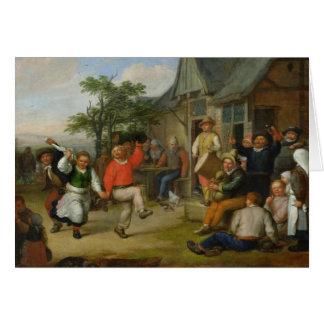 La danza de los campesinos, 1678 tarjeta de felicitación