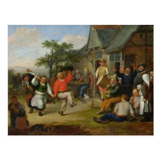 La danza de los campesinos, 1678 postal