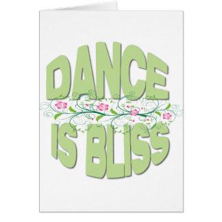 La danza es camisetas de la dicha tarjeta