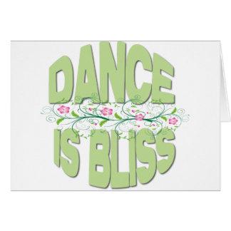 La danza es camisetas de la dicha tarjeta de felicitación