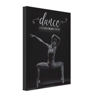 La danza es la lengua del alma - lona lienzo