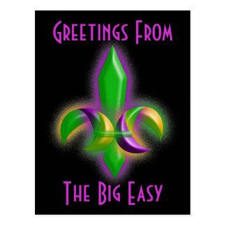 LA de New Orleans de la flor de lis de la postal