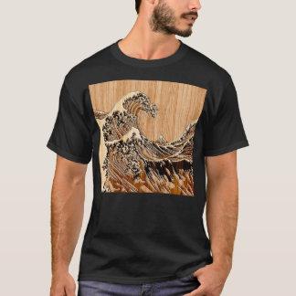 La decoración de madera de bambú del estilo de la camiseta