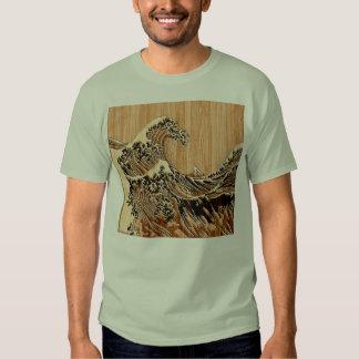 La decoración de madera de bambú del estilo de la camisetas