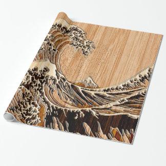 La decoración de madera de bambú del estilo de la papel de regalo