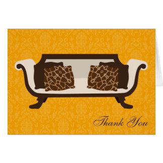 La decoración elegante doblada le agradece las tarjeta