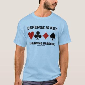La defensa es dominante a ganar en el puente (los camiseta