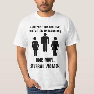 La definición bíblica de la boda camiseta