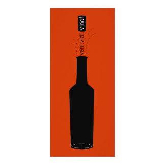 La degustación de vinos del vino de Veni Vidi del Invitación 10,1 X 23,5 Cm
