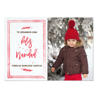 La del del tarjeta de Navidad del pequeño de Feliz