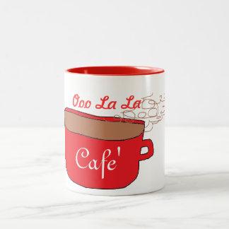 La del la del ooo de Cafe Taza De Dos Tonos