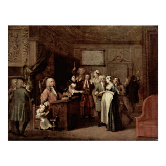 La denuncia de William Hogarth Póster