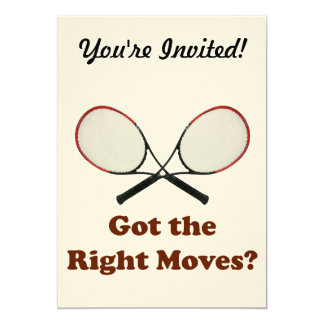 La derecha mueve tenis invitación 12,7 x 17,8 cm