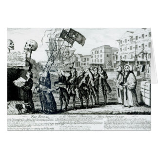 La derogación, o el cortejo fúnebre tarjeta de felicitación