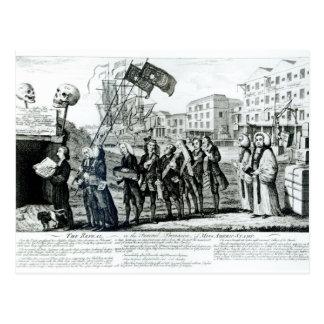 La derogación, o el cortejo fúnebre postales