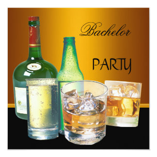 La despedida de soltero bebe las botellas invitación 13,3 cm x 13,3cm