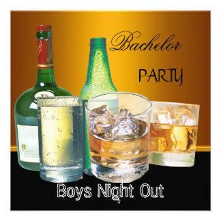 La despedida de soltero bebe noche de los muchacho invitaciones personalizada