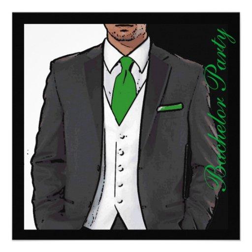 La despedida de soltero blanca negra verde del smo anuncio