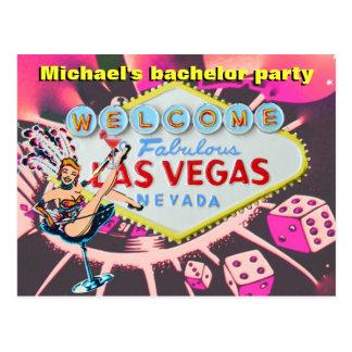 La despedida de soltero Las Vegas invita Tarjetas Postales
