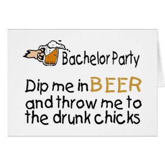 La despedida de soltero me sumerge en cerveza tarjetas
