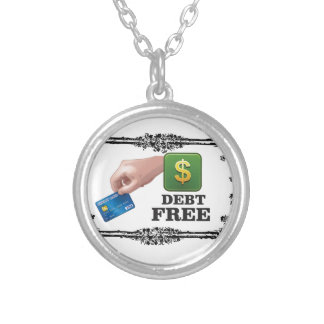 la deuda libera la etiqueta collar plateado
