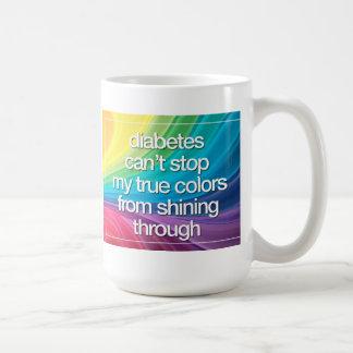 La diabetes no puede pararme taza básica blanca