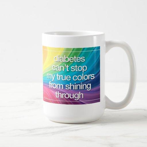 La diabetes no puede pararme taza de café
