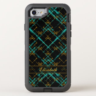 la diagonal entrecruzada ajusta el oro de la funda OtterBox defender para iPhone 8/7