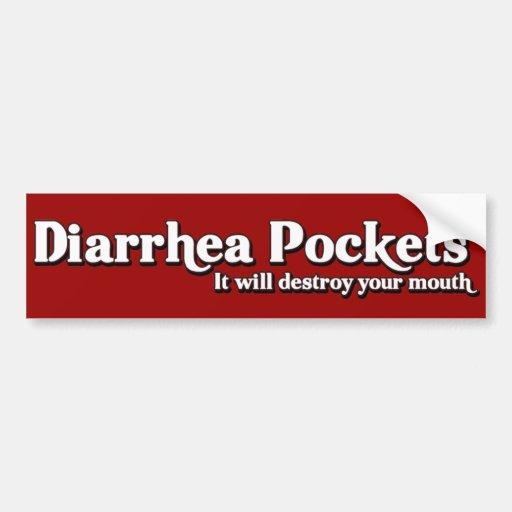 La diarrea embolsa a Sr. Funny Parody Pegatina De Parachoque