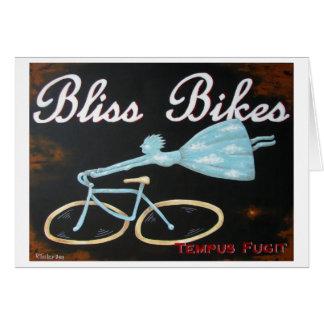 La dicha Bikes Notecard Tarjeta De Felicitación