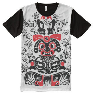 La diosa de Pulque Camisetas Con Estampado Integral