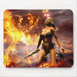 la diosa del fuego alfombrilla de ratón