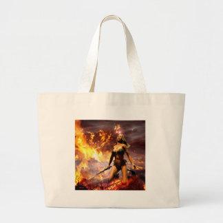 la diosa del fuego bolsa tela grande